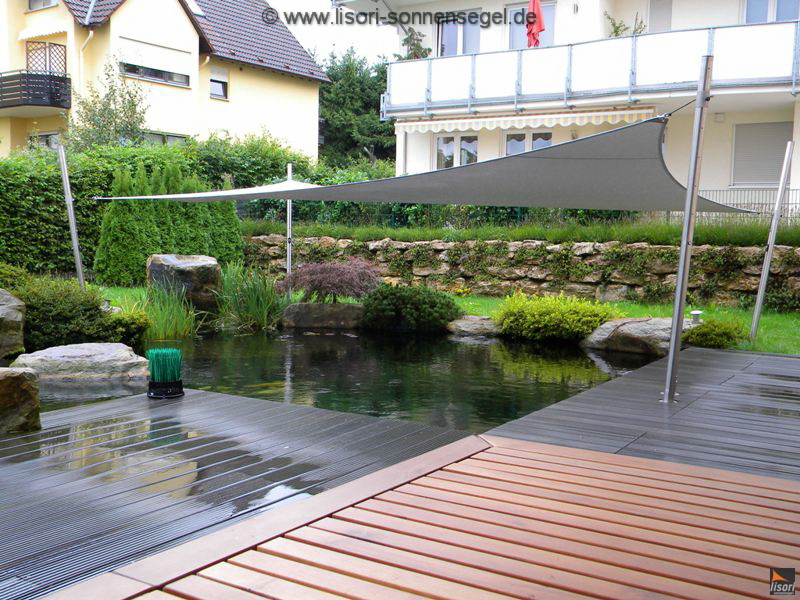 lisori sonnensegel ideale beschattung für teich und pool, Hause und Garten